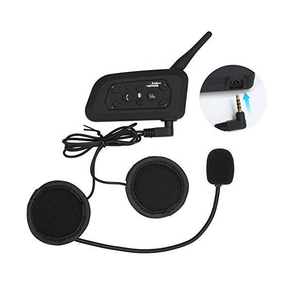 Intercom V6 PRO para casco de Moto 1200m 6 Riders Intercomunicador BT Interphone auriculares Bluetooth inalambrico