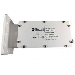 LNB Banda C Norsat 5500, 15K PLL 3.4 - 4.2GHz Alta Estabilidad Ganancia 62dB High Stability C-Band