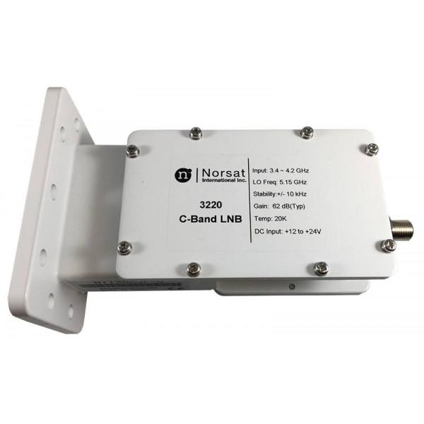 LNB Banda C Norsat 3220, 20K PLL 3.4 - 4.2GHz Alta Estabilidad Ganancia 62dB High Stability C-Band