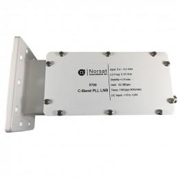 LNB Banda C Norsat 5700, 15K PLL 3.4 - 4.2GHz Alta Estabilidad Ganancia 62dB High Stability C-Band