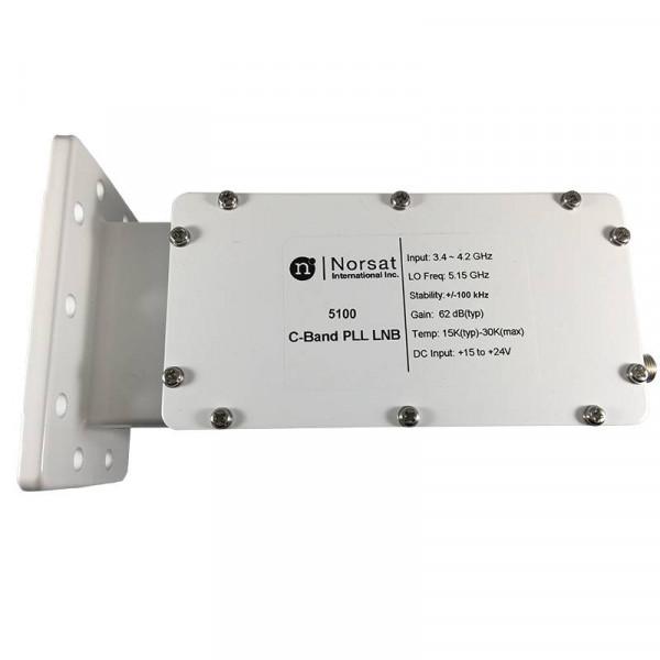 LNB Banda C Norsat 5100, 15K PLL 3.4 - 4.2GHz Alta Estabilidad Ganancia 62dB High Stability C-Band