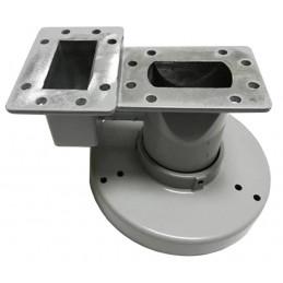 Alimentador Dual Feed Horn para LNB Banda C, transductor recepción de doble polaridad H & V, FHDUALFEED Aibitech