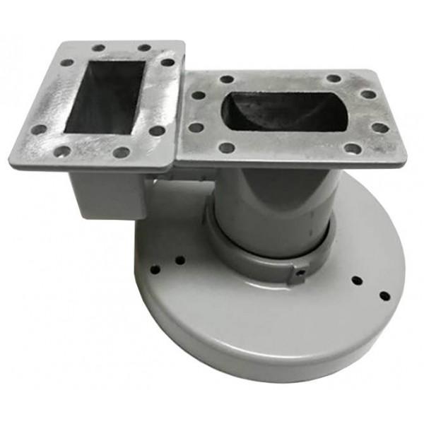 Alimentador Dual FeedHorn para LNB Banda C, transductor recepción de doble polaridad H & V, FHDUALFEED Aibitech