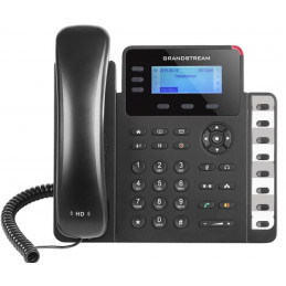 Teléfono IP - Grandstream GXP-1630, 3 lineas, 3 Teclas, Conferencia 4 vias, 8 teclas BLF, LCD 132 X 48, RJ-45 PoE, Audio HD