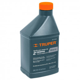 Aceite Mineral 470ml 16oz Para 15L Gasolina motor 2 Tiempos Motos Desbrozadoras Motosierras, ACT-2T-16M 15021 Truper