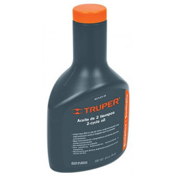 Aceite Sintetico 400ml 14oz Para 20L Gasolina motor 2 Tiempos Motos Desbrozadoras Motosierras, Truper ACES-20 17625