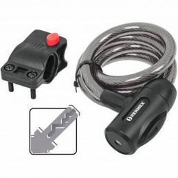 Cable de Seguridad con llave 10mm 1m, en acero con cubierta PVC, Incluyen 2 llaves tipo automotriz, CB-10C 43922 Hermex
