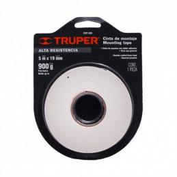 Cinta de Doble Contacto 5m Ancho 19mm Espesor 0.95mm, Soporta 1Kg, Doble Adhesivo, CDC-1950P 20005 Pretul