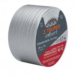 Cinta Ducte Tape 50m Ancho 48mm Espesor 0.27mm, Elongacion 10%, Resistente a Temperaturas, CDU-50XX 10944 Truper