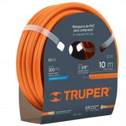 """Manguera para compresor de Alta Presion de PVC 5m 3/8"""" Conector Movil, MAN-PI-5-3/8 10892 Truper"""