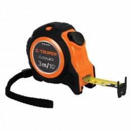 Wincha Flexometro Auto-Lock 3M con TPR, cinta medicion ambos lados, carcasa ABS, FA-3M 10746 Truper