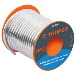 Soldadura con Nucleo de Resina 450g 3mm 50/50 Estaño Plomo, para tuberia Hidraulica, SOL-50/50 14365 Truper