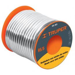 Soldadura con Nucleo de Resina 450g 3mm 95/5 Estaño Antimonio, para tuberia de Gas, SOL-95/5 14367 Truper