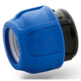 "Enlace Tapon 50mm Conexion para Tuberias 1 1/2"" HDPE PN16, 7055 Poelsan"