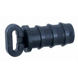 Tapon Simple Dentado 20mm Bolsa 100 unidades para Riego por Goteo Tuberia HDPE, 15744 Poelsan