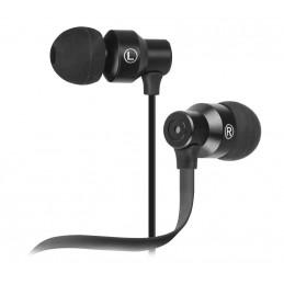 Auriculares In-ear Klip Xtreme KHS-215BK NeatBuds Auriculares con control y micrófono en línea Negro