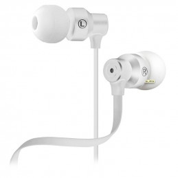 Audifonos Alambrico Klip Xtreme KHS-215WH NeatBuds Audífonos con control y micrófono en línea Blanco