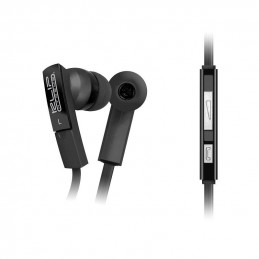 Audifonos Alambrico Klip Xtreme KHS-220BK Audífonos estéreo Cable Plano 3.5mm Premium con control y micrófono Negro