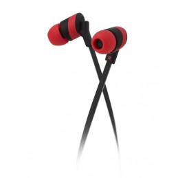 Audifonos Alambrico Klip Xtreme KHS-625RD Audífonos estéreo Cable Plano 3.5mm Almohadilla de silicona Rojo