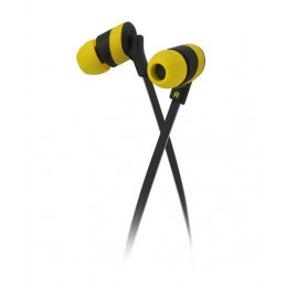 Audifonos Alambrico Klip Xtreme KHS-625YL Audífonos estéreo Cable Plano 3.5mm Almohadilla Silicona Amarillo