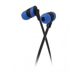 Audifonos Alambrico Klip Xtreme KHS-625BL Audífonos estéreo Cable Plano 3.5mm Almohadilla Silicona Azul