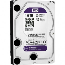 "Disco duro Western Digital Purple Surveillance, 1TB, SATA 6.0 Gbps, 5400RPM, 64MB, 3.5"" para DVR y NVR"