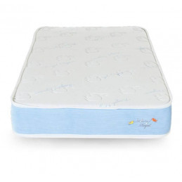 Colchon Paraiso Baby Royal Cuna resortes Mini Pocket Algadon Natural Espuma Zebra