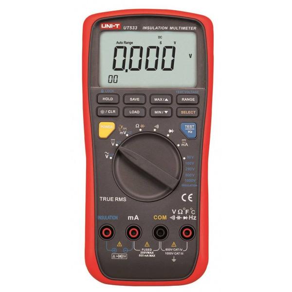 Megometro Multimetro Digital UNI-T UT-533, Insulation Resistance 1000v DC AC Auto Rango