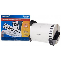 Etiqueta Rollo Continuo Brother DK-2243, 101mm x 30.4m Blanco Rotuladora QL-1060