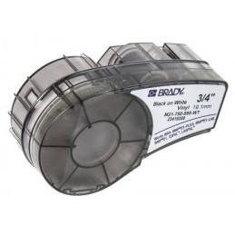 Etiqueta Adhesiva Vinyl Brady M21-750-595-WT, 19.0mm X 6.4m Negro sobre fondo Blanco
