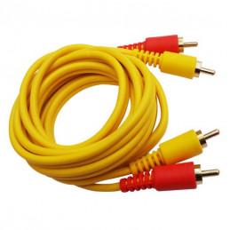 Cable de Audio Vozzex VZ-2115G, 1.8M 2 Plug RCA Gold Macho Macho