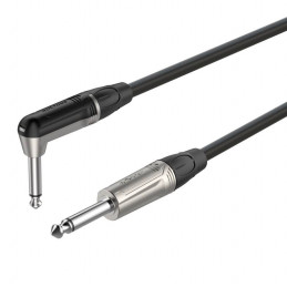 Cable de Instrumento Roxtone DGJJ110L10, 10M Plug Mono 6.3mm a Plug de angulo recto Mono 6.3mm