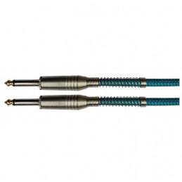 Cable de Instrumento SoundKing BC-306, 6M Plug Mono 6.35mm a Plug Mono 6.35mm con Resorte