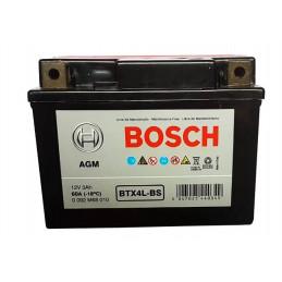 Bateria para Moto Bosch 12V BTX4L-BS 3Ah - + AGM VRLA 60A L11.3 AN7 AL8.5cm