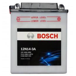 Bateria para Moto Bosch 12N14-3A 12v - + 14AH CCA 128A L130mm AN85mm AL165mm