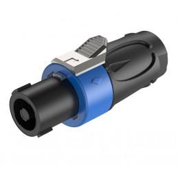 Conector Plug Roxtone RS4F-N-BU, Speakon 4P Pines Azul