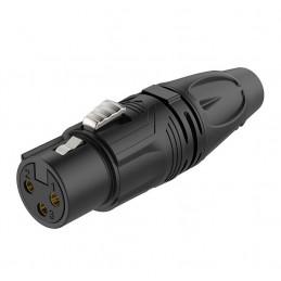 Conector Jack Roxtone RX3F-BG, Canon XLR Hembra Pines dorado Negro