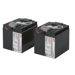 Bateria de Reemplazo APC RBC55, Cartucho para recambio 55 2x12V 17Ah para UPS
