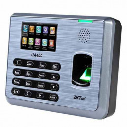 "Control Asistencia IP Zkteco UA400, 3"" TFT Capacidad 3000 Huella Digital RED RS485 USB"