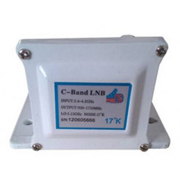 LNB AibiTech Banda C Single Polarity 17K, 3.4 - 4.2GHz Salidas RG6