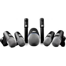 Microfono Alambrico Kit JTS TXB-7M, 7 unidades microfonos para Bateria 1 (TX-2) 4 (TX-6) 2 (TX-9) con Maleta ABS
