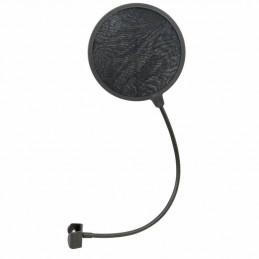 Filtro Antipop Universal JTS MS-65, Cuello de Cisne 380mm y abrazadera de pie