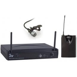 Microfono Inalambrico JTS E-6/E-6TB-CM501, Sistema UHF 10mW PLL Cobertura 80m voz de calidad con Clip para Solapa