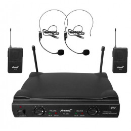 Microfono Inalambrico Vozzex VZ-58V, UHF Doble Canal Doble Microfono Tipo Vincha