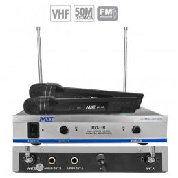 Microfono Inalambrico MXT MXT-11M, 50m VHF Doble Canal Doble Microfono de Mano