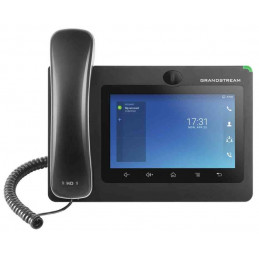 "Telefono IP GrandStream GXV3370, 16 líneas, LCD 7"", WiFi dual Band, PoE Camara Integrada Audio HD"
