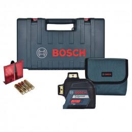Nivel Laser Bosch GLL 3-80, 40m 1 línea horizontal y 2 verticales 360° plomada, transferencia de puntos