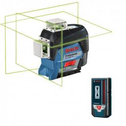 Nivel Laser Bosch GLL 3-80CG + LR7, 1 línea horizontal 2 verticales 360 plomada, transferencia de puntos bluetooth