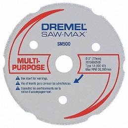 Disco de Carburo Multiproposito Dremel SM500, DSM 500 para Madera y Plastico