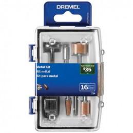 Kit Accesorios para Metal Dremel 734, 16 accesorios Micro Kit de metal rotativo